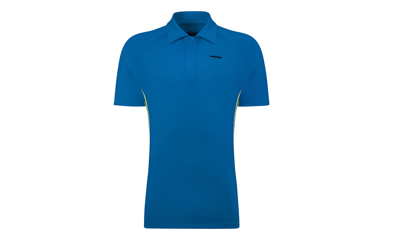 HEAD Push Polo Men Blue XL