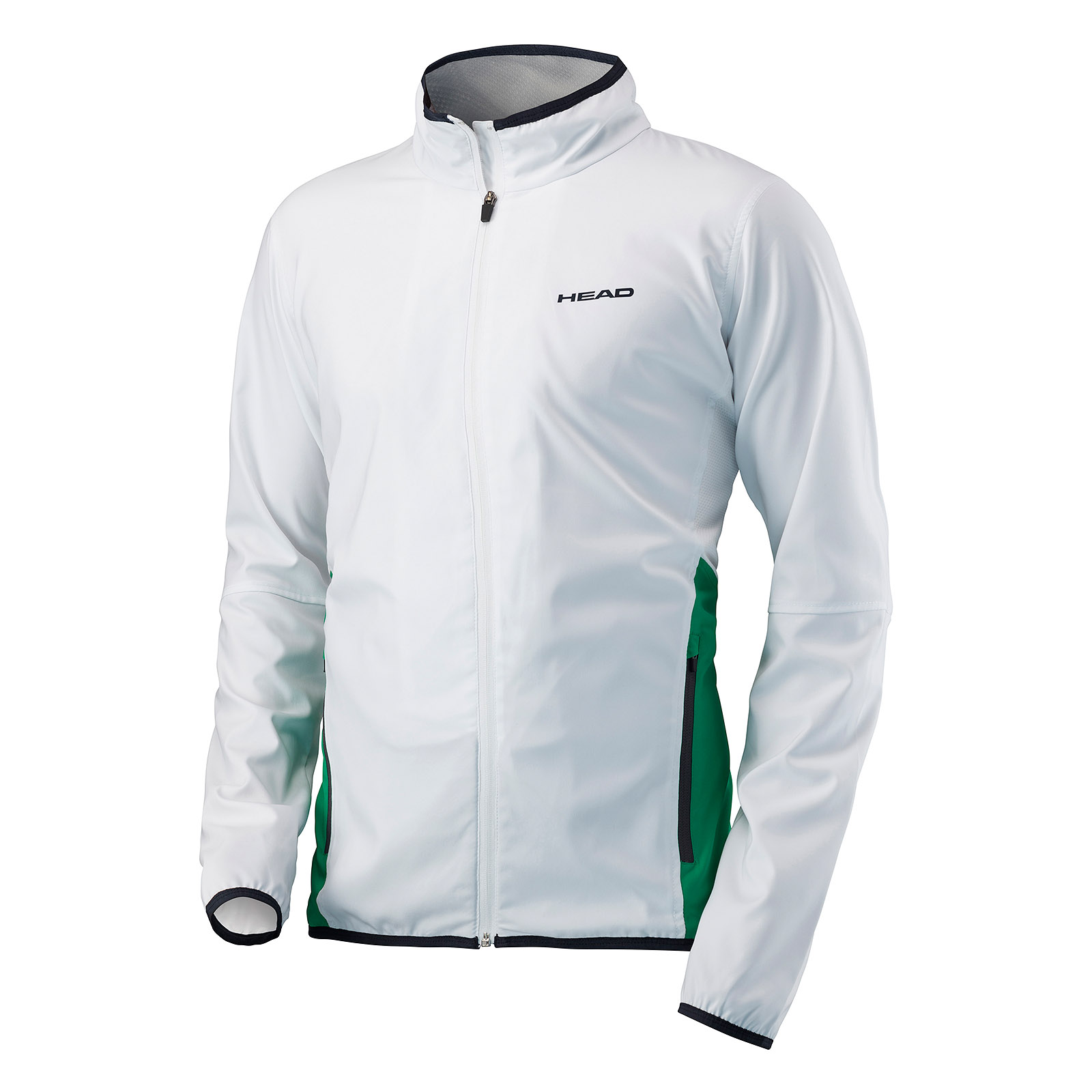 HEAD Club Jacket Men White/Green S