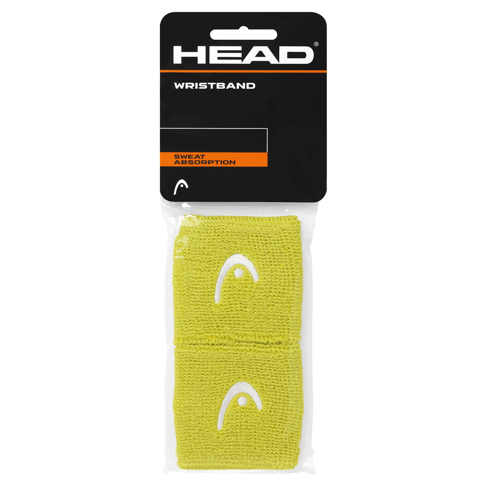 "HEAD Wristband 2,5"" 2016 lime"