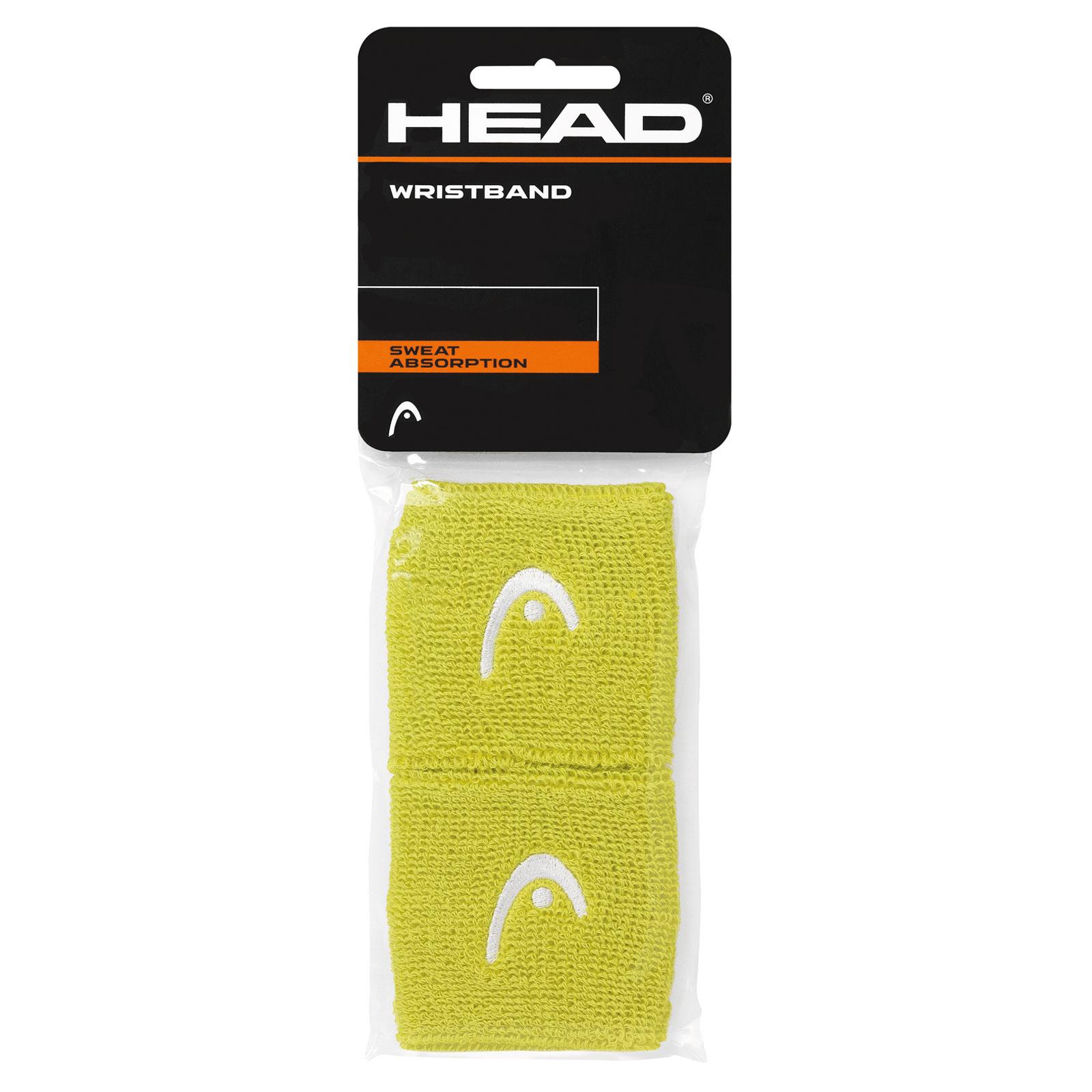 """HEAD Wristband 2,5"""" 2016 lime"""