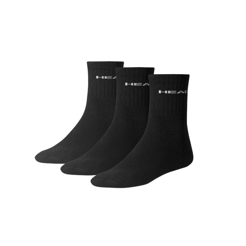 HEAD ponožky Short Crew černé - 3 páry 35/38